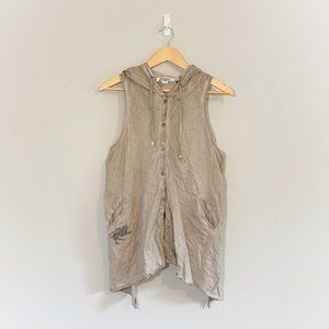 Parasuco   Hooded Button Up Tank